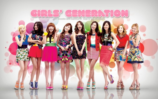 The lovely members of the group Girls Generation or 소녀시대 in Korean