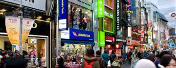 A Myeongdon shopping street.