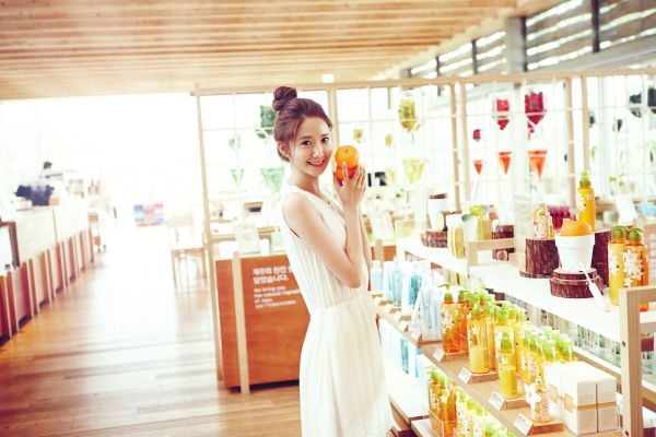 Yoona from Girls Generation posing for Korean cosmetics brand Innisfree