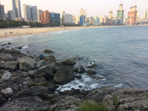 The beautiful Haeundae beach