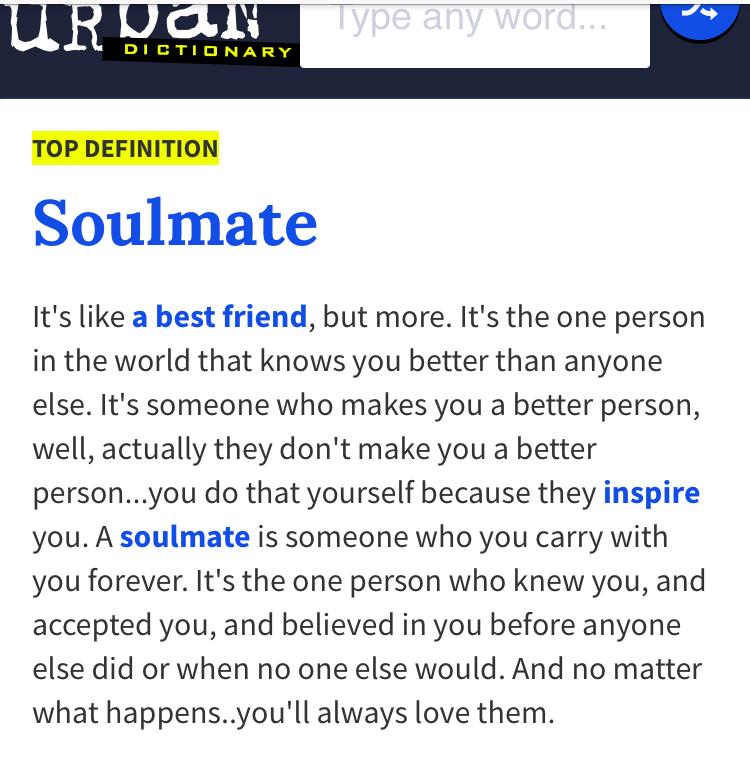 Soulmate urban dictionary